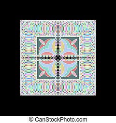 Gometric pattern from thin rings - Vector geometric pattern...