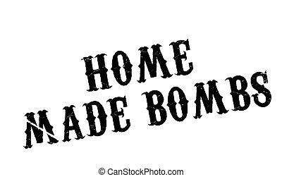 gomma, casa fece, bombe, francobollo