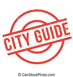 gomma, città, guida, francobollo