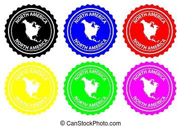 gomma, nord america, -, francobollo
