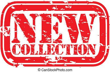 gomma, nuovo, grunge, francobollo, collezione