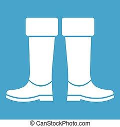 gomma, stivali bianchi, icona