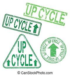 gomma, upcycle, francobollo