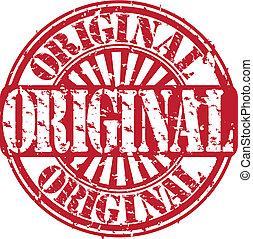gomma, vecto, grunge, originale, francobollo