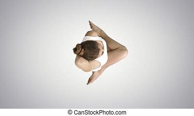 gomukasana, pilates, natte yoga, vache, gradient, pose, ...