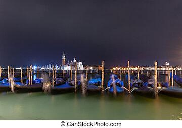 Gondola Boats - Venice, Italy
