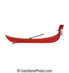 Gondola icon, flat style