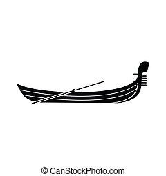 Gondola icon, simple style