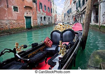Gondola in Venice at the pier