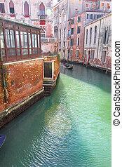 Gondola on lateral narrow Canal