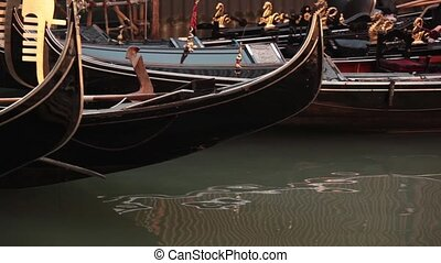 Gondola on the water in Venice