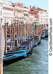 Venezia - Gondola Port in Venezia, Italy