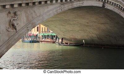 Gondola, Rialto Bridge, Grand Canal, Venice, Italy - Venice,...