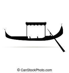 gondola silhouette vector illustration on white background
