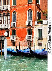 Gondolas at Grand Canal