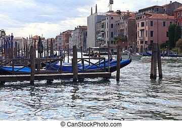 Gondolas at main canal