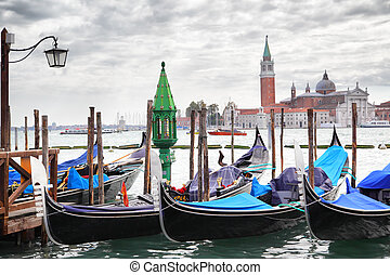 Gondolas near Saint Mark square