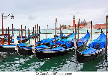 Gondolas near Saint Mark square