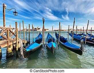 Gondolas on Grand Canal
