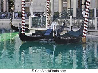 gondolas, op, venetiaan, hotel, in, las vegas