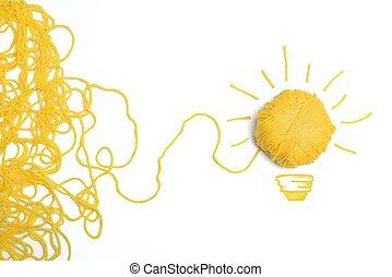 gondolat, és, újítás, fogalom