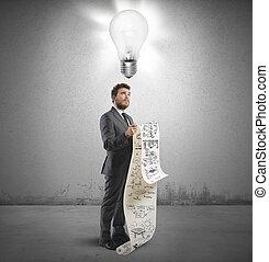 gondolat, helyett, egy, új, stratégia