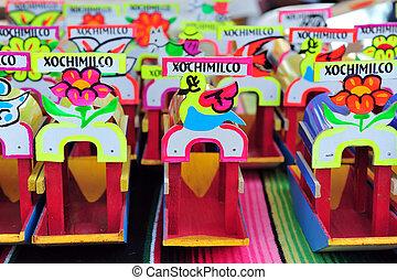 gondole, messicano, souvenir