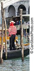 Gondolier, Venice - Photo of a Gondolier in Venice