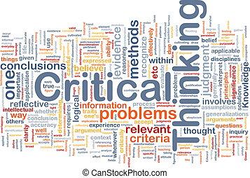 gondolkodó, fogalom, válságos, háttér