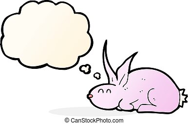 gondolkodik panama, karikatúra, üregi nyúl