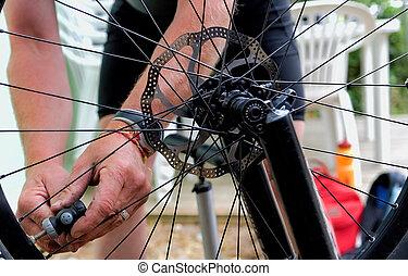 gonfler, pneu vélo