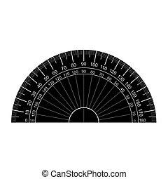 goniometro, vettore, silhouette