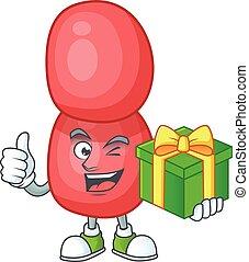 gonorrhoeae, caja, neisseria, smiley, diseño, feliz, ...
