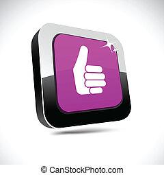 Good 3d square button.