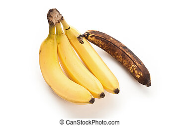 Banana - good and bad Banana, close up