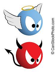 Good and bad emoticon - Design of good and bad emoticon