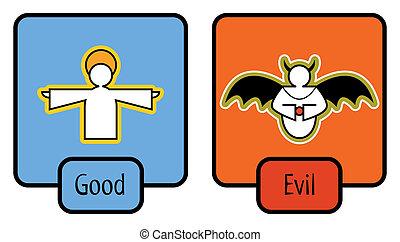 good and evil symbols
