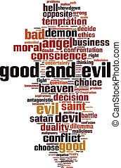 Good and evil word cloud