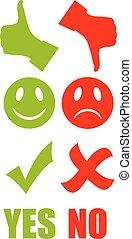 Good bad symbol