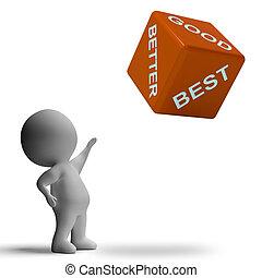 Good Better Best Dice Representing Ratings