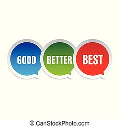 Good better best speech bubble