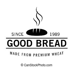 Good bread : Bakery label badge