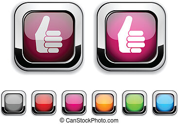 Good button. - Good realistic icons. Empty buttons included...