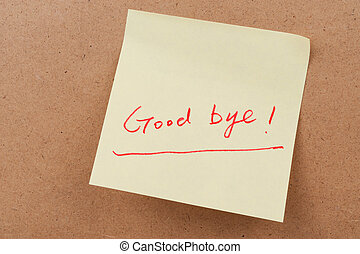 Good bye words