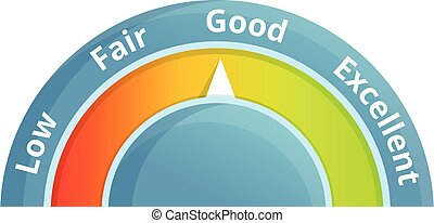 Good credit score icon. Cartoon of good credit score vector icon for web design isolated on white background