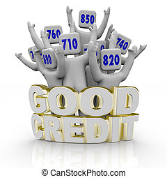 Good Credit Scores - People Cheering - Several people with...