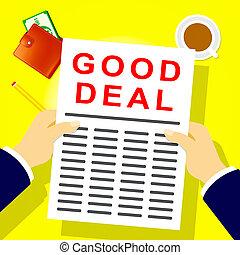 Good Deal Means Best Price 3d Illustration