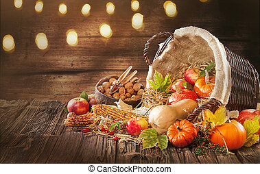 Good decorations for fall and autumn banners