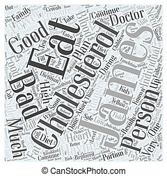 good diet to lower cholesterol Word Cloud Concept