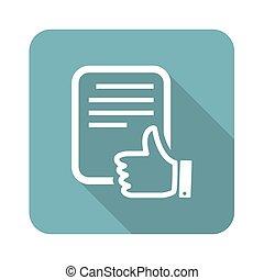 Good document icon, square